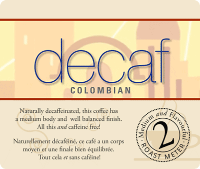 Muldoons Coffee Decaf Colombian Blend